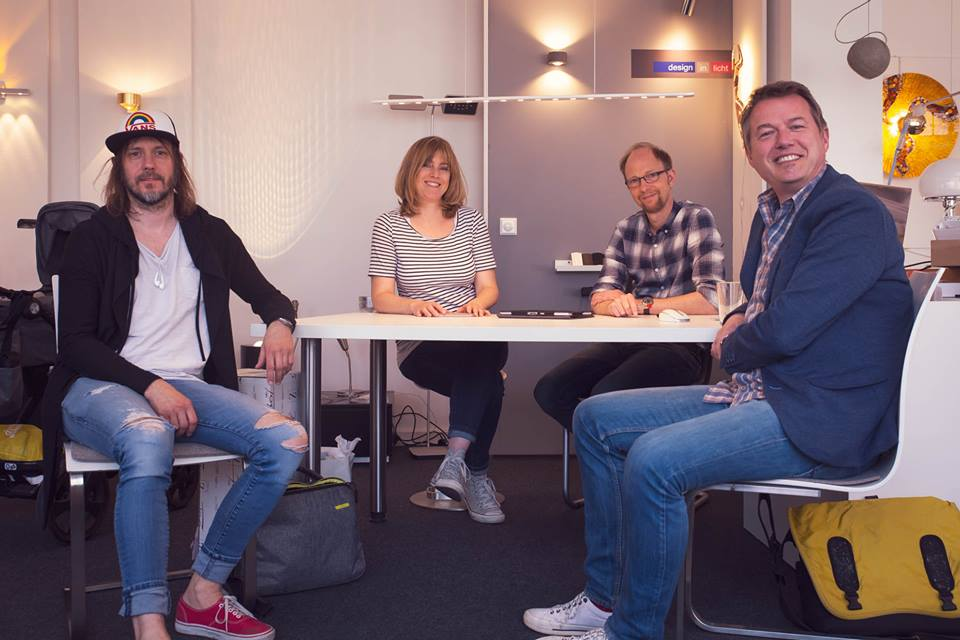 Martin, Caroline, Stefan, Michael am Tisch 11.05.18